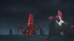 Rin enfrenta um inseto vermelho