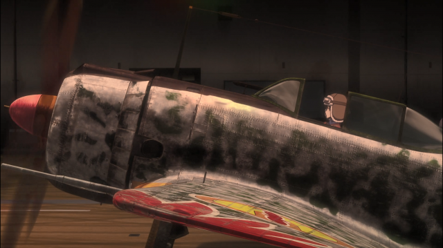 Essa enormidade de detalhes no avião seria virtualmente impossível com animação tradicional