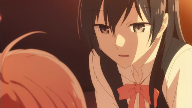 """Ao mesmo tempo em que as sombras cobrem seu rosto, Touko reafirma que ela precisa """"se tornar"""" alguém"""