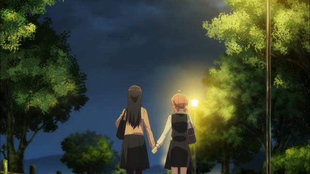 Touko e Yuu, de mãos dadas