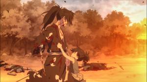 Dororo impede Hyakkimaru de continuar matando