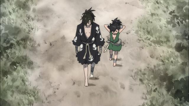 Em sua jornada para recuperar a humanidade roubada, Hyakkimaru tem Dororo ao seu lado