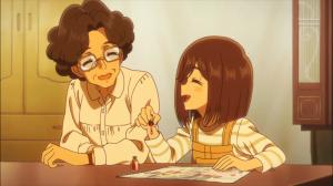 """Cocona como Iroha e a """"tia"""", a vizinha idosa com quem passava boa parte do tempo"""