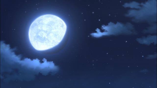 A ... lua? Com um urso? Amarrado?
