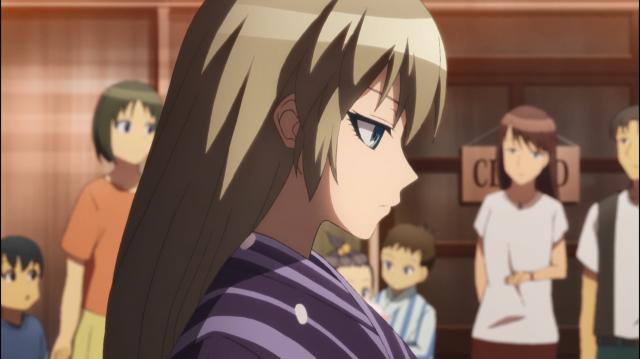Asuka pensativa sobre sua condição de guardiã da paz