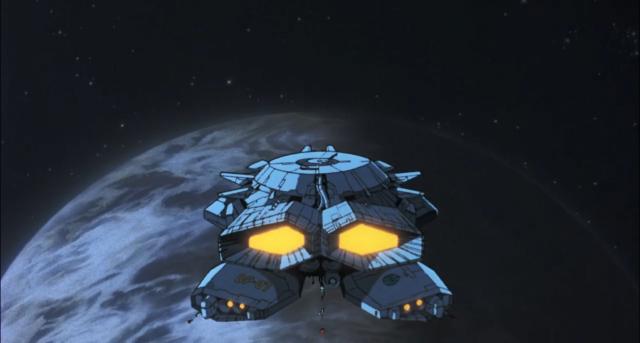 Uma nave pousando em Vênus