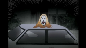 """Negishi estava sem as roupas da fantasia, então se escondeu atrás de um carro para falar com seus fãs e foi interpretado como """"uma cabeça flutuante"""""""