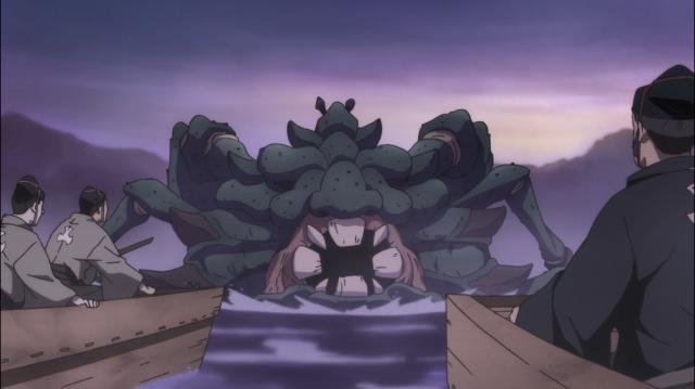 Bakemonogani, o caranguejo-demônio do episódio