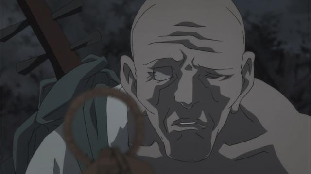 Biwamaru recolhe o ídolo sem cabeça que Nuinokata abandonou