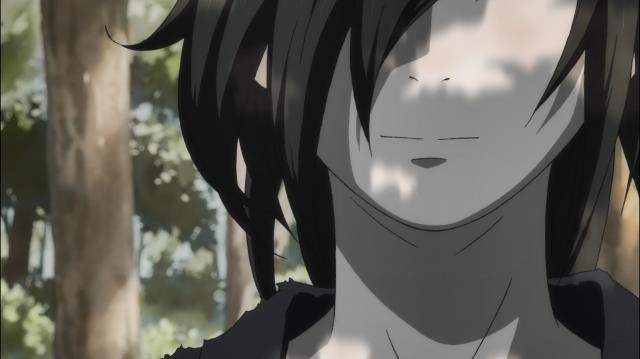 Hyakkimaru sorri quando pensa na ideia de ter uma mãe