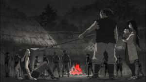 Hibukuro se enfurece com a sugestão de Itachi para que se aliem aos samurais