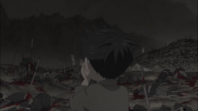"""""""O inferno é assim?"""", pergunta Dororo em um campo de batalha cheio de cadáveres"""