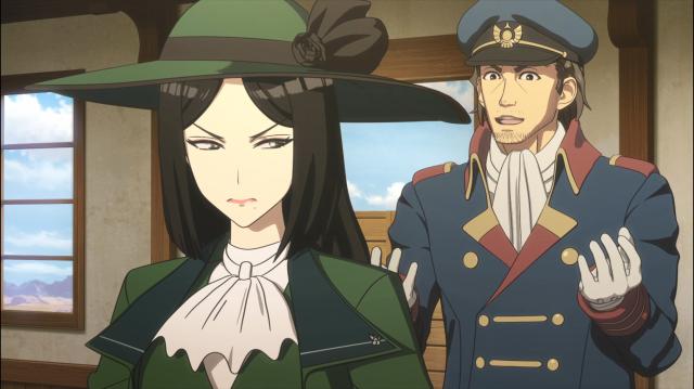 O subcomandante Saneatsu defende os termos do tratado de Isao