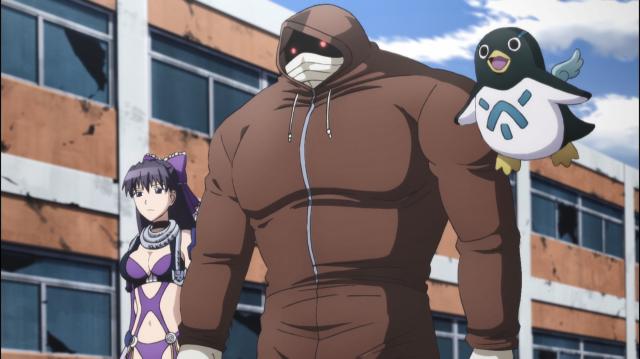 Chisato e Geiss passeiam pelo campo de batalha