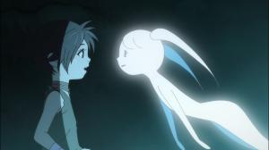 O fantasma de uma das crianças mortas e Dororo