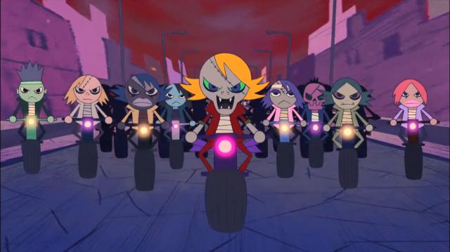 Tem cenas animadas para contar a história de Himiko, uma motoqueira lendária