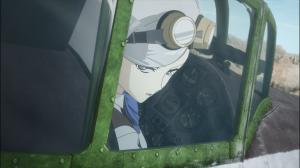 Kate encerra o anime sendo a única pilota a ter derrubado o Isao