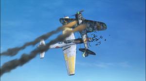 Reona arremessa o próprio avião contra o mordomo de Isao