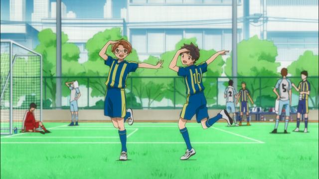 A pose que era marca registrada de Enta e Kazuki, quando jogavam juntos