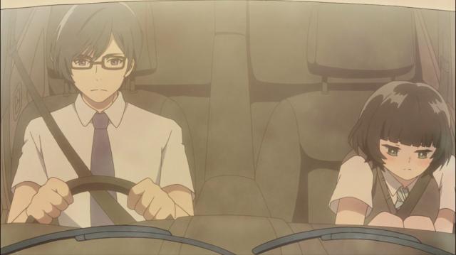 Professor Yamagishi e Hongou, aparentemente não fazendo nada demais