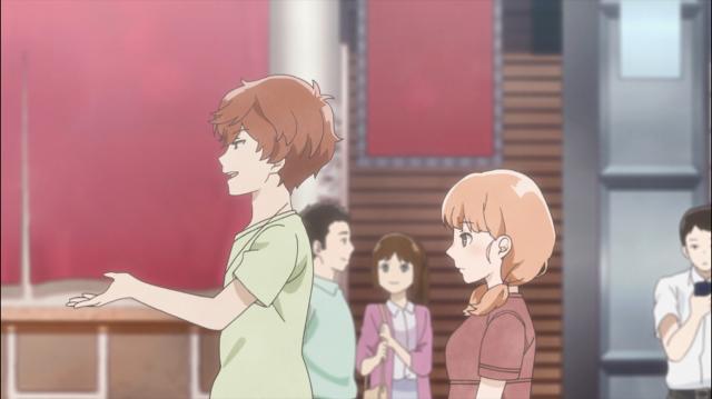 O encontro mal começou (eles apenas almoçaram) e a Momoko já está ficando incomodada com o Sugimoto