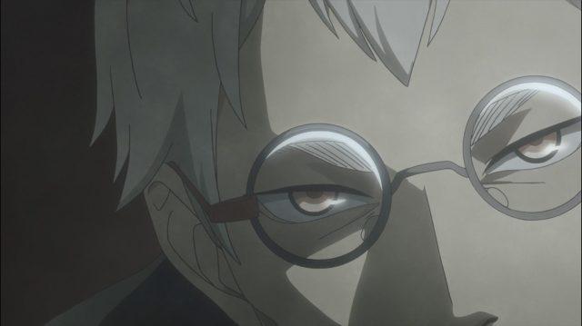 O olhar predador de Saegusa enquanto conversa com Sugawara