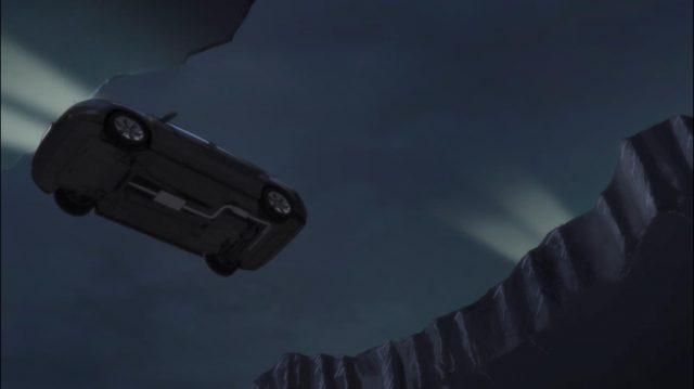 Esse carro caindo sem nem desacelerar foi hilário