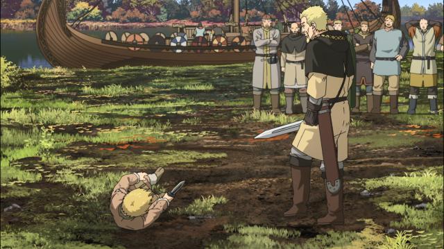 Thorfinn é derrotado em duelo por Askeladd