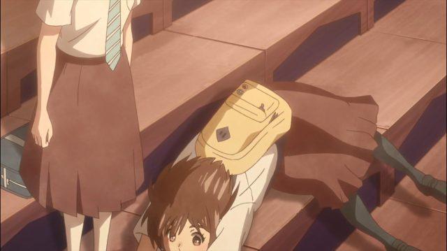 Momoko rejeita o abraço de Onodera