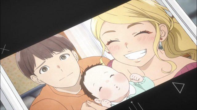 Juujou está feliz com seu bebê, agora com dois meses, e, suponho, com seu agora marido