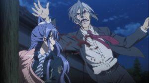 O pai de Tsubasa se joga na frente para salvar a filha de levar um tiro