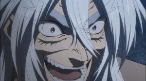Fudou ri após balear Yatsuhiro