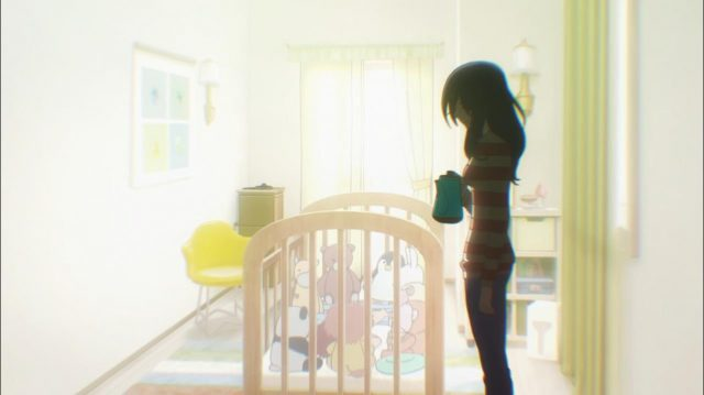 A mãe de Itsuki sofreu um caso severo de depressão pós-parto e derramou água fervente nas costas do bebê