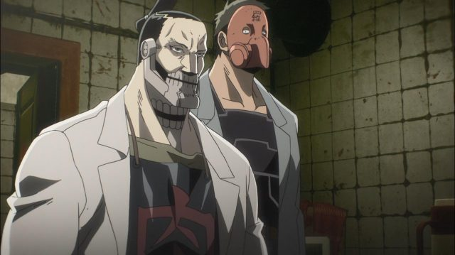 Um oficial e um capanga do Grupo Kyusei