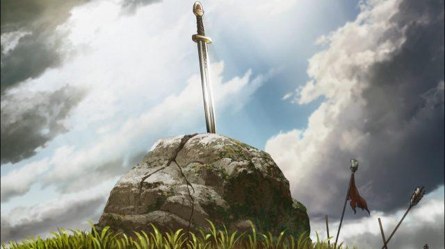 A Excalibur das lendas arturianas?