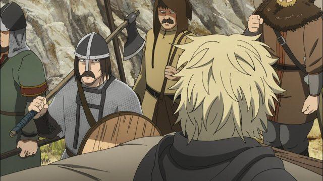 Vikings interessados na pregação cristã do padre que acompanha Canuto