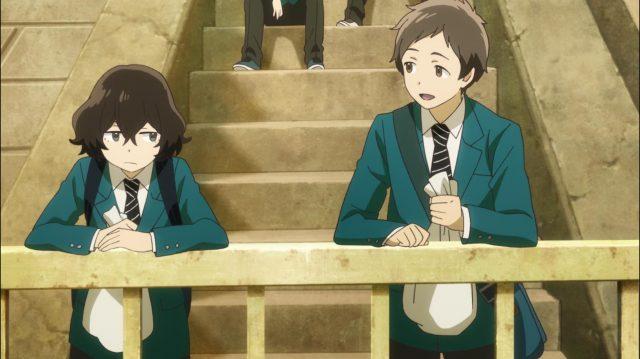 Kanako zomba dos garotos por acharem que se esforçar resolve tudo, e Yuuta diz que ela é muito madura