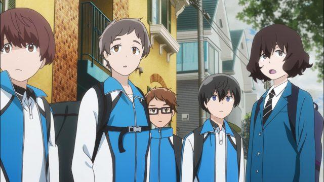 Kanako vai junto com os garotos para a partida de treino com outra escola