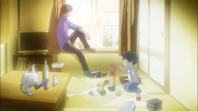 Quando era pequeno, Maki ficava sozinho com o pai em casa