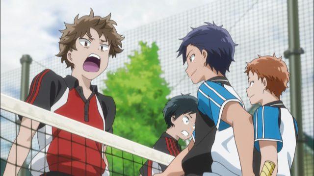 Shingo e Tsubasa botam pressão (...agridem) nos adversários desde o começo