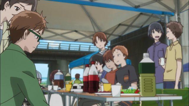 Touma não sabe o que fazer em um grupo que está apenas se divertindo