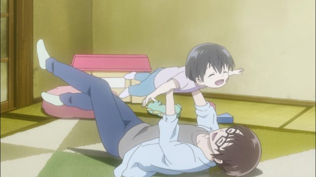 Shou, quando ainda era Shouko, cuidando do jovem Maki
