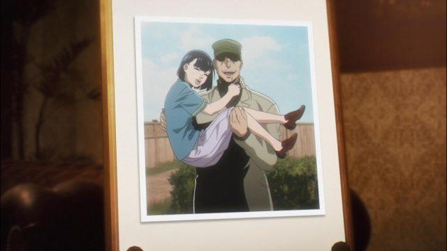 Foto que Olivier mantém em sua mesa de trabalho dela com seu pai