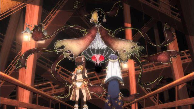 Yachiyo e Tsuruno testemunham Iroha se transformando em uma bruxa ... ou não?