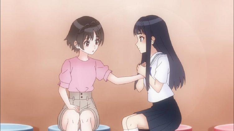 Ruka diz a Hiori que pode confidenciar-se com ela