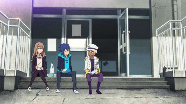 Shimizu conversa com Yume e Yomogi