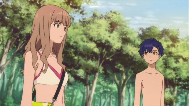Yume agradece ao Yomogi por tê-la salvo durante a batalha