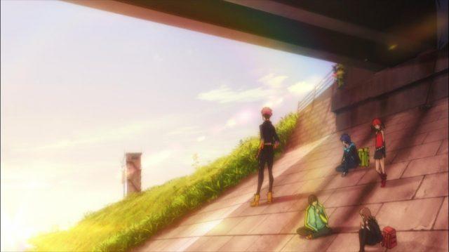 O olhar perdido de Gauma encontra a torre da comporta onde Kano morreu