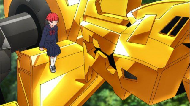 Chise deprimida por ter que se despedir de tudo o que ganhou com as batalhas contra os kaijus